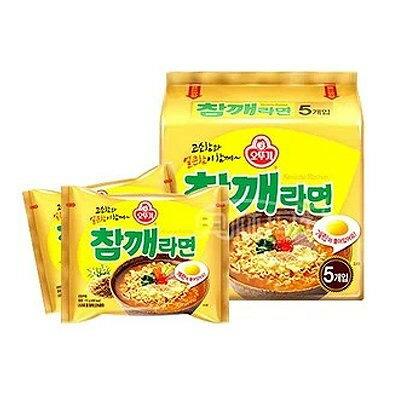 【四爺食品】韓國不倒翁芝麻拉麵 5 入(包) ★ 濃郁芝麻香 / 彈Q可口麵條