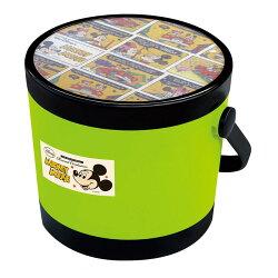 日本 迪士尼 Disney 米奇圓形玩具收納椅/收納箱/兒童椅 綠色
