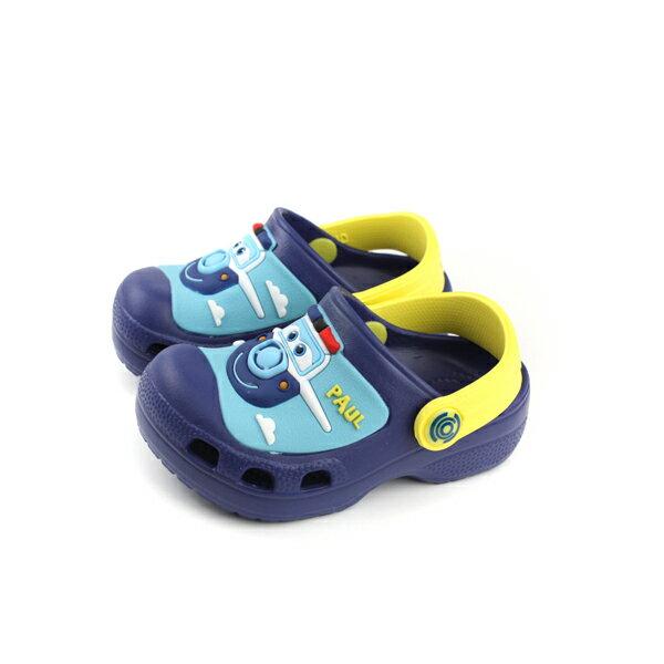SUPERWINGS布希鞋涼鞋防水雨天藍色中童童鞋S83904-350no949