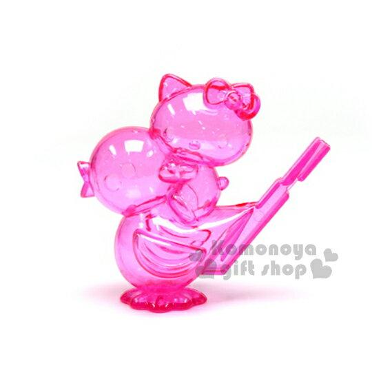 〔小禮堂〕Hello Kitty 造型哨子玩具《粉.透明.小鳥.坐姿》適合3歲以上孩童