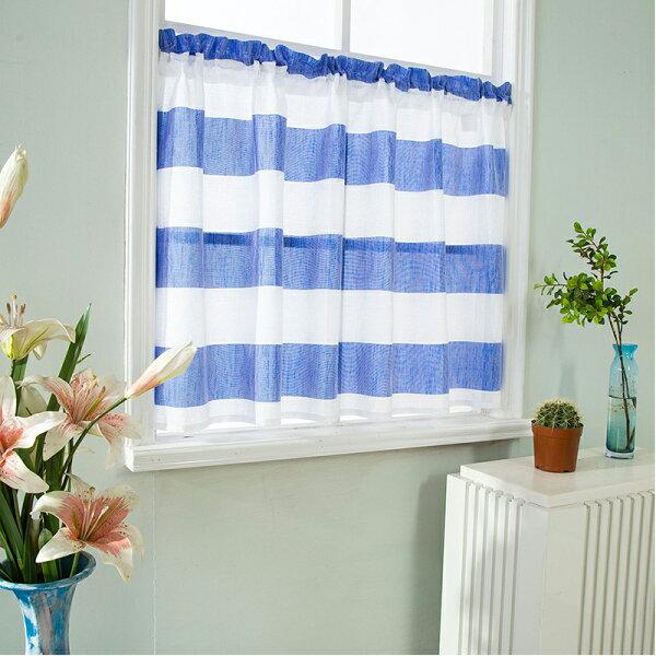 廚房櫥窗裝飾短簾窗簾【寬137*高90公分】無印良品風格