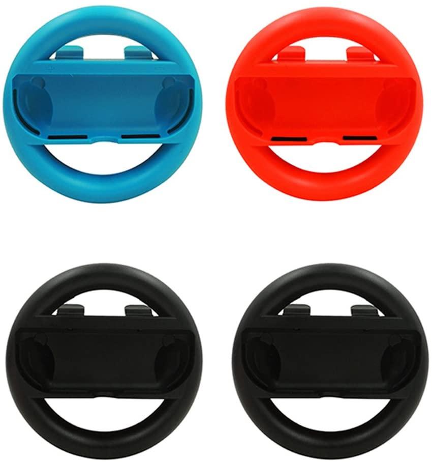 適用任天堂switch 手把 方向盤 大禮包 10in1 馬力歐賽車方向盤 Switch擴充手把 座充 充電座套組