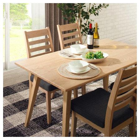 ◎(OUTLET)實木餐桌 ALAND140 白橡木 福利品 NITORI宜得利家居 7