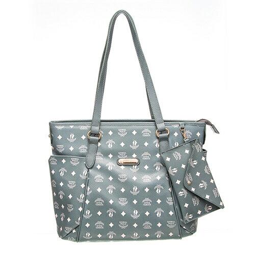 【XINWEI POLO】奢華LOGO風雙側口袋包款附零錢包-6318-灰綠