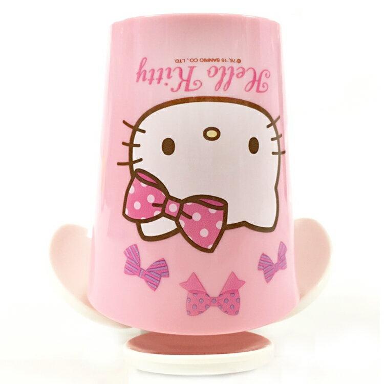 韓國製 HelloKitty凱蒂貓 漱口杯附收納架兒童漱口杯 牙刷杯牙刷架牙刷置盒 韓國進口正版 071648