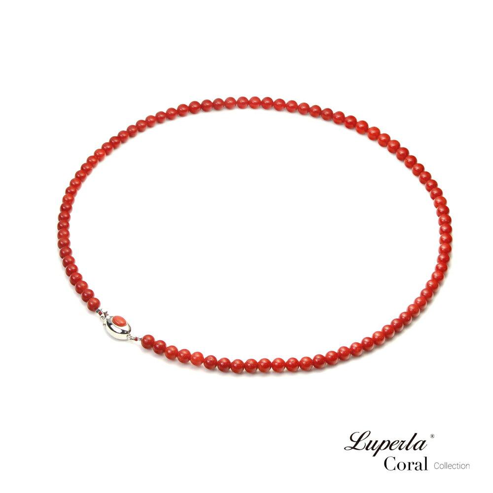 大東山珠寶 頂級天然全紅珊瑚 5.5-6mm圓珠項鍊 1
