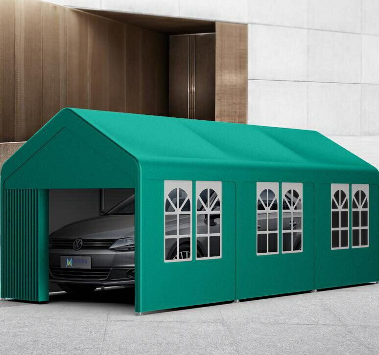 2021搶先款 汽車遮陽棚aishifa車棚停車棚家用汽車棚行動車庫棚遮陽遮雨棚防曬戶外帳篷完美 新年狂歡
