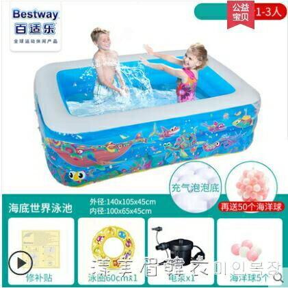 搶先福利 \童充氣加厚游泳池家用大人泳池小孩嬰兒寶寶家庭洗澡池 NMS漾美眉韓衣 夏季狂歡爆款