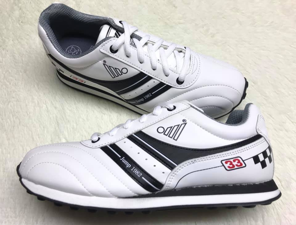 【Jolove】JUMP將門男鞋/專業彈性運動鞋120 黑白