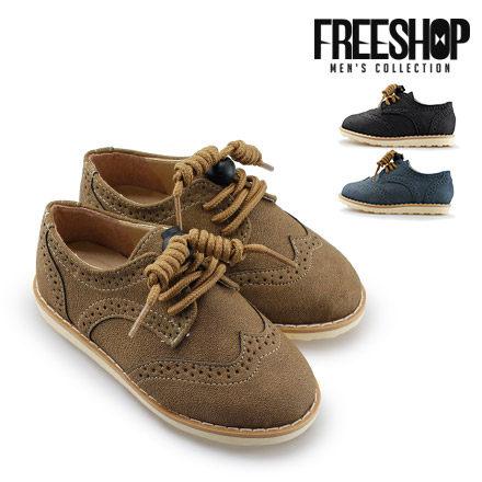 童鞋 Free Shop~QSH0568~日韓系 牛津雕花舒適低筒休閒懶人鞋童鞋 三色 ^