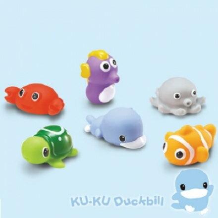 酷咕鴨水中玩具~海洋動物組~六甲媽咪~