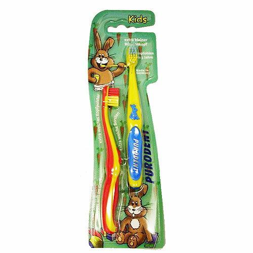 【奇買親子購物網】德國 PURODENT 兔寶寶牙刷(適用0-3歲)2入