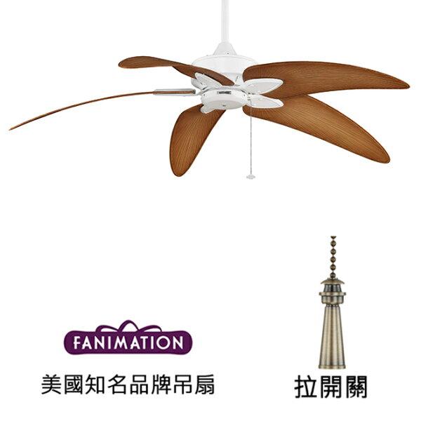 美國知名品牌吊扇專賣店:[topfan]FanimationWindpointeCustom60英吋吊扇(MA7500MW-BPW6090DNA)平白色