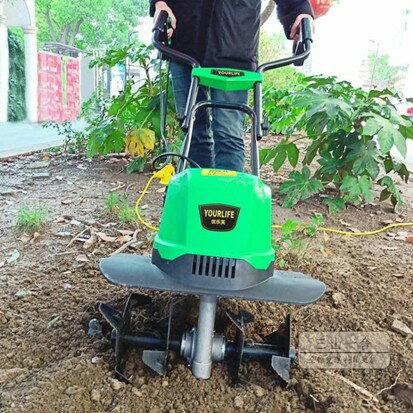 割草機 電動松土機微耕機翻土機小型犁地機家用打地刨地挖地果園-伊卡萊生活館JY  聖誕節禮物