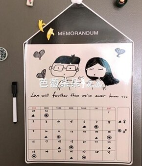 磁性冰箱貼留言板可擦寫ins北歐創意卡通家用房子備忘錄 『伊卡萊』  聖誕節禮物