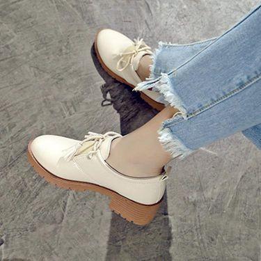 豆豆鞋 春季新款學生韓版百搭ulzzang英倫風軟妹女鞋原宿風小皮鞋女  聖誕節禮物