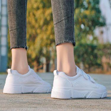 運動鞋 新款網紅魔術貼小白鞋女春季2019春款學生百搭白鞋韓版板鞋子  聖誕節禮物
