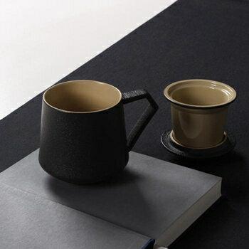 創意陶瓷杯子大容量水杯馬克杯簡約情侶杯帶蓋咖啡杯過濾茶杯  聖誕節禮物