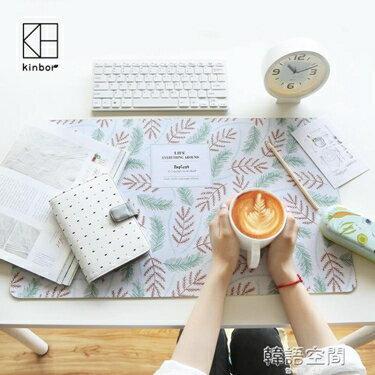 kinbor桌墊卡通加大防水暖手桌墊滑鼠鍵盤墊電腦辦公桌墊寫字墊   韓語空間 YTL  聖誕節禮物