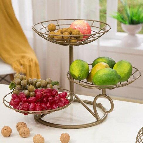 三層水果盤客廳多層干果盤  聖誕節禮物