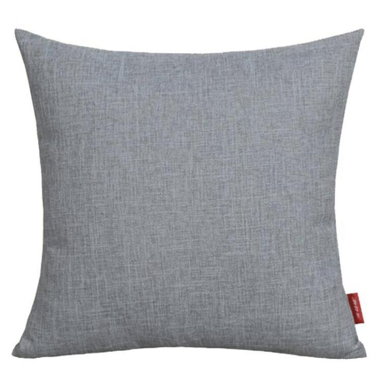 加厚亞麻抱枕沙發靠枕辦公室床頭簡約靠墊大腰枕套靠背不含芯定制