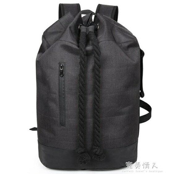 健身背包男抽繩雙肩包旅行束口袋帆布旅遊水桶包籃球包  聖誕節禮物
