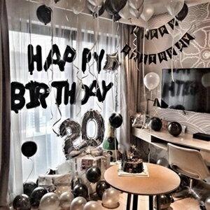 派對用品-成人生日字母氣球生日布置套餐浪漫求婚生日快樂派對KTV房間裝飾  聖誕節禮物