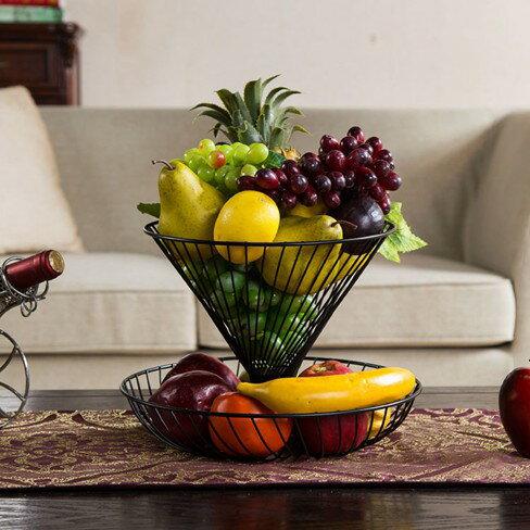 家用兩層多層水果籃客廳創意時尚水果盤現代  伊卡萊生活館  聖誕節禮物