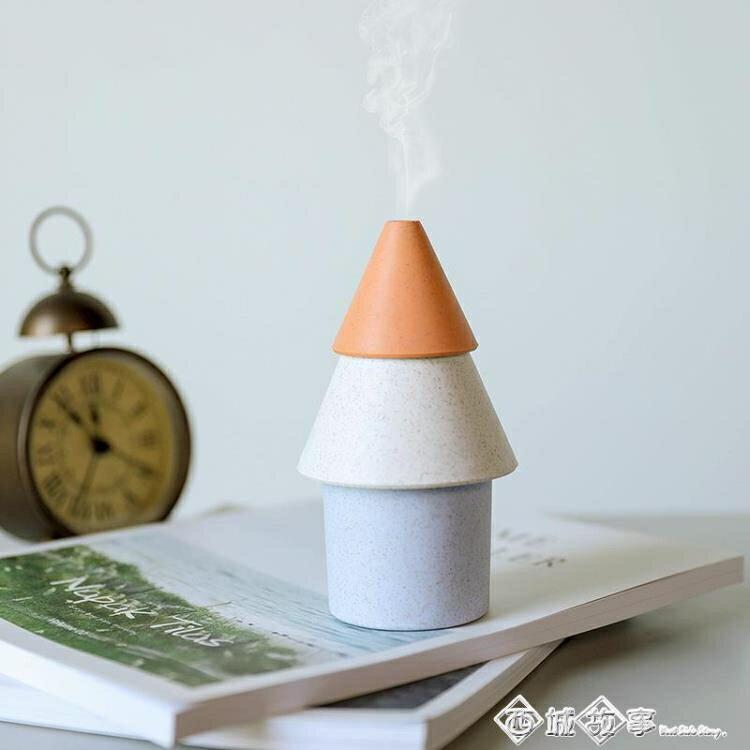 辦公室臥室桌面靜音小加濕器 創意可愛便攜家用車載USB空氣凈化器  聖誕節禮物