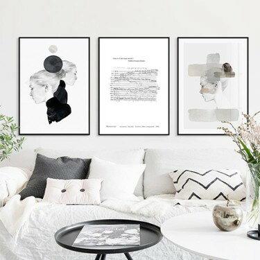 北歐風格客廳抽象臥室沙發背景墻現代簡約高檔時尚大氣裝飾畫掛畫   伊卡萊生活館  聖誕節禮物