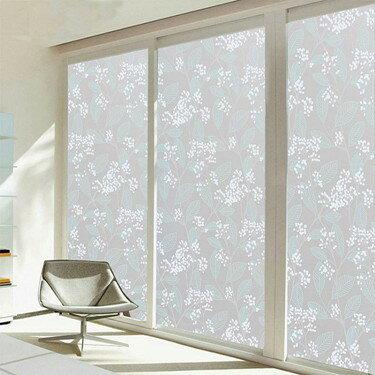 無膠靜電磨砂玻璃貼膜窗戶移門透光不透明窗貼浴室衛生間防曬窗紙     伊卡萊生活館  聖誕節禮物