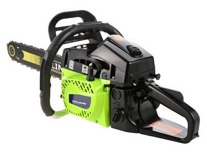 59CC Petrol Chainsaw Cutting Wood Gas Chain Saw 3.4HP Engine 2.0KW Chain and Cover Tool Kit 2