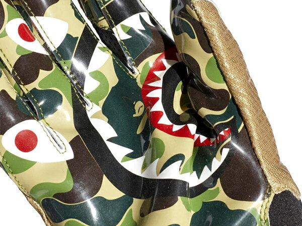 2019 限量發售 SUPER BOWL 第五十三屆超級盃 A BATHING APE x adidas ADIZERO 8.0 BAPE CAMO 美式足球 手套 鯊魚迷彩 猿人頭 (CL4729) ! 3