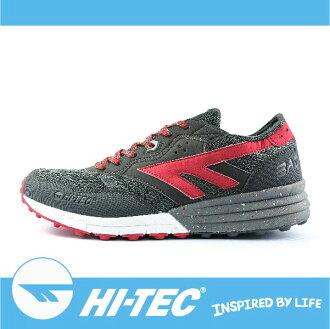 萬特戶外運動 HI-TEC 巴德沃特 BADWATER A005440051 男超輕野跑鞋 透氣 耐磨 舒適 緩衝性佳 深灰/紅色