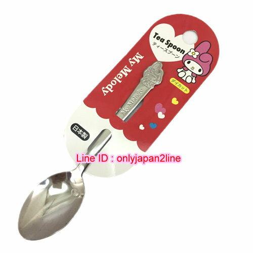 【真愛日本】16110500005日本製鋼印不鏽鋼湯匙S-美樂蒂 Melody 湯匙 叉子 餐具 日本製