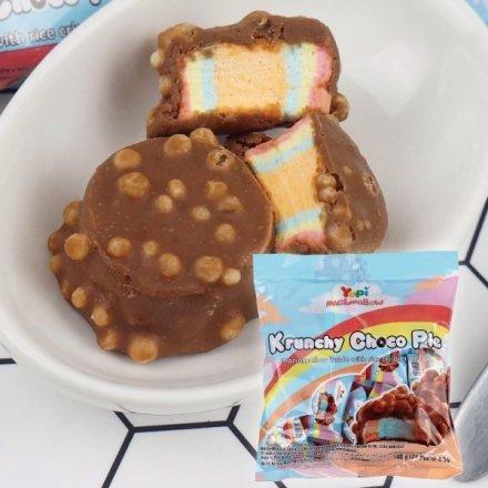 Yupi呦皮脆米巧克力棉花糖大容量108g【櫻桃飾品】【27286】