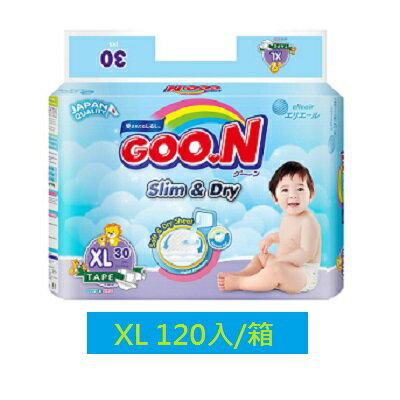 GOO.N 日本大王紙尿褲-國際版XL(30片X4串/箱) 獨家代理