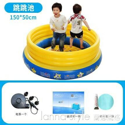 兒童充氣蹦床多功能家用跳跳池寶寶戲水池海洋球池游樂池