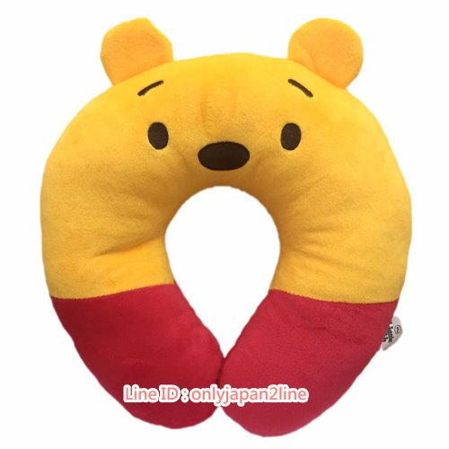 【真愛日本】17021500042造型頸枕-維尼  迪士尼 維尼家族 POOH 頸枕 枕頭 靠枕 居家用品