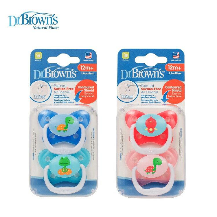 Dr. Brown's布朗博士 - PreVent功能性人體工學安撫奶嘴 12個月以上 2入裝 0