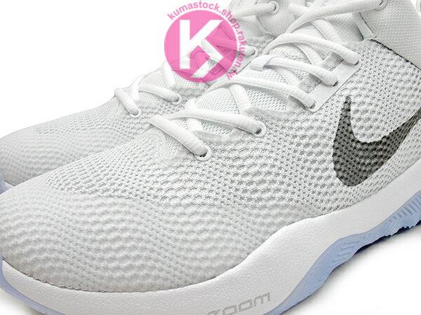 2016 中價位籃球鞋款 NIKE ZOOM REV EP 全白 白銀 HYPERFUSE 鞋面科技 + ZOOM AIR 氣墊 XDR 耐磨橡膠外底 輕量化 籃球鞋 (852423-100) 0117 2