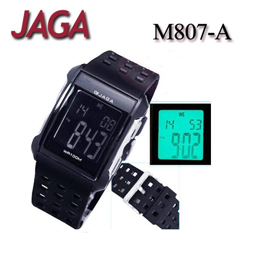 JAGA 捷卡 M807-A 樂活時尚休閒電子錶 運動錶/女錶/男錶/中性錶/手錶  (公司貨/保證防水可游泳)