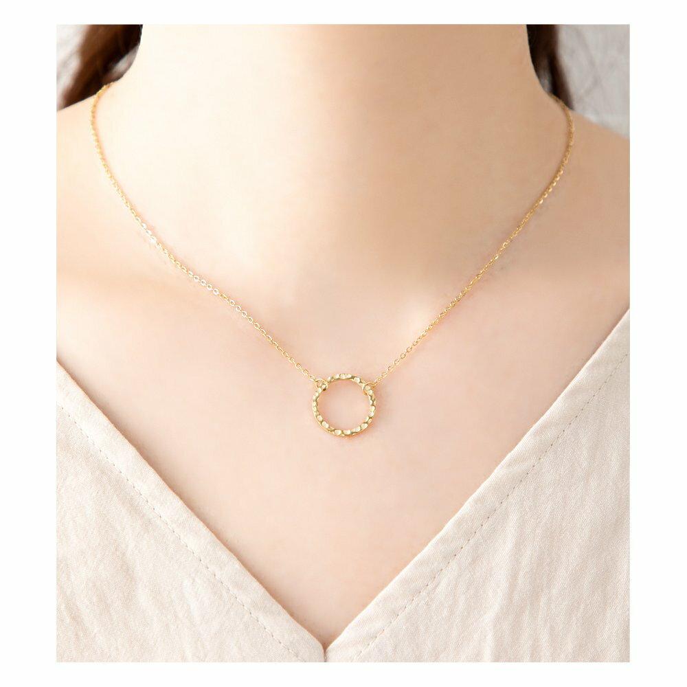 日本Cream Dot  /  槌面圓環項鍊  /  p00017  /  日本必買 日本樂天代購  /  件件含運 7