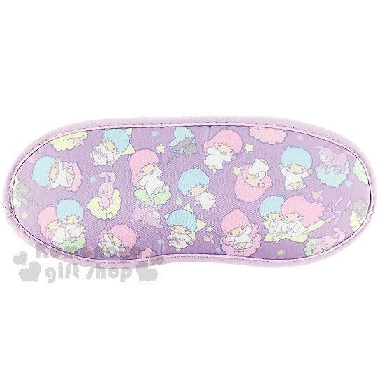 〔小禮堂〕雙子星眼罩《紫.滿版.兔子》輕薄透氣材質