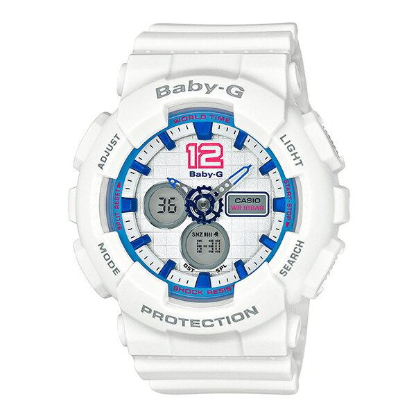 Baby-G CASIO 卡西歐 BA-120-7B(BA-120-7BDR) 雙顯 防水 女錶