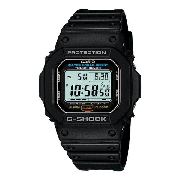 CASIO/G-SHOCK 卡西歐 太陽能 防水 手錶 G-5600E-1DR