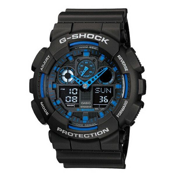 CASIO/G-SHOCK 卡西歐 GA-100-1A2(GA-100-1A2DR) 防水 男錶