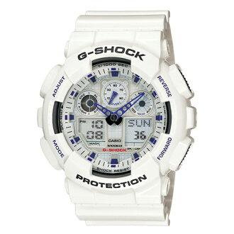 CASIO/G-SHOCK 卡西歐 GA-100A-7A(GA-100A-7ADR) 雙顯 防水 手錶