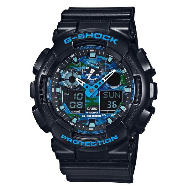CASIO/G-SHOCK 卡西歐 GA-100CB-1A(GA-100CB-1ADR) 雙顯 防水 手錶
