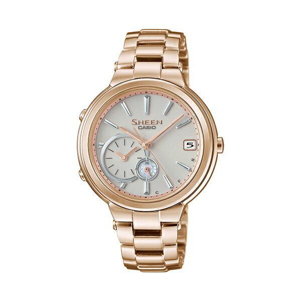 CASIO 卡西歐/SHEEN SHB-200CG-9A(SHB-200CG-9ADR) 太陽能 藍牙 玫瑰金 女錶